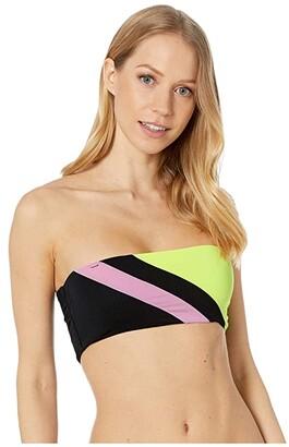 Maaji Moonlit June Reversible Bandeau Bikini Top (Artemis Black Rib) Women's Swimwear