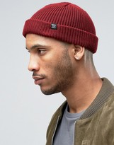 Herschel Supply Co Buoy Fisherman Beanie In Burgundy