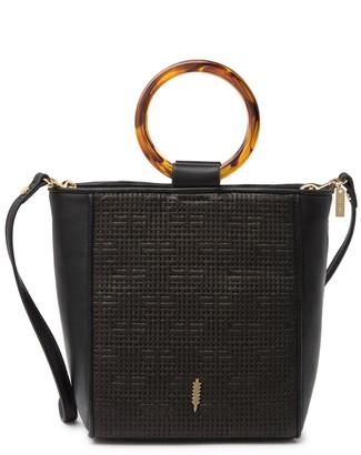 THACKER Le Bucket Tortoise Ring Leather Bag