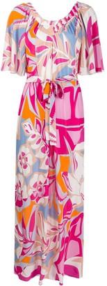 Emilio Pucci Printed Long Beach Dress