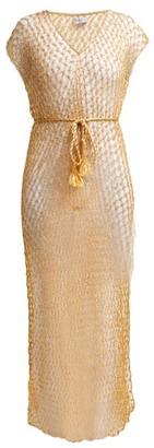 My Beachy Side - Beaded Crochet-knit Beach Dress - Womens - Gold