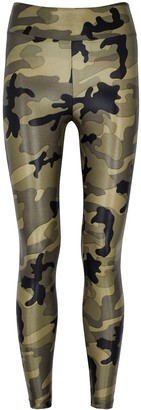 Koral Activewear Lustrous cropped camouflage leggings