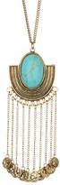Stephan & Co Stone & Fringe Pendant Necklace