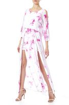 FINEJO Pink Tie-Dye Dress
