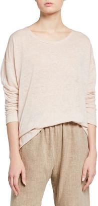 eskandar Linen Boat-Neck Sweater