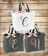 Etsy Personalized Bridal Tote Bag, Bridesmaid Tote Bag, Maid of Honor Tote Bag, Monogrammed Tote Bag (BR0