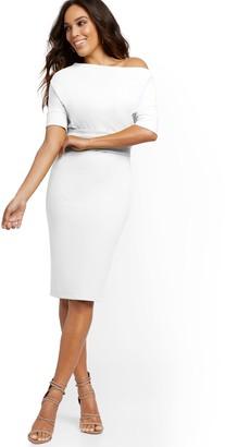 New York & Co. White Dolman Sheath Dress