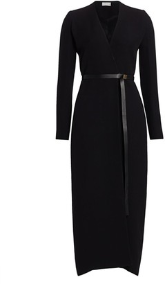 The Row Vana Belted Silk Wrap Dress