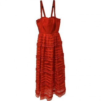 Emilio De La Morena Red Silk Dress for Women