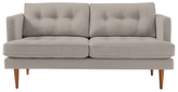 west elm Peggy 2 Seater Sofa, Linen Weave Platinum