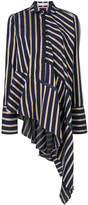 Palmer Harding Palmer / Harding asymmetric striped shirt
