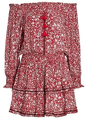 Poupette St Barth Sylvia Off-The-Shoulder Dress
