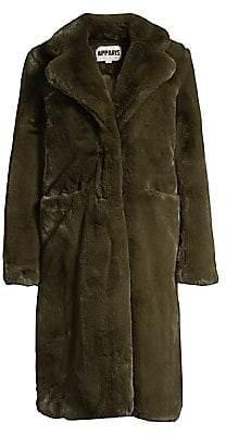 Apparis Women's Laure Plush Faux Fur Coat