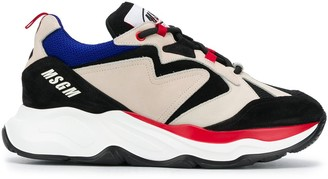 MSGM Lace-Up Running Sneakers
