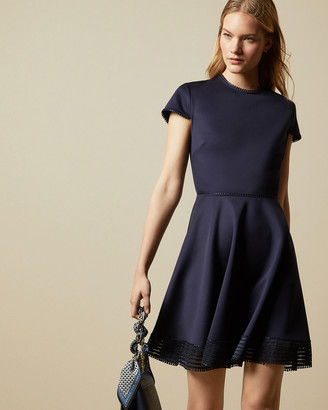 Ted Baker ROHDIA Mesh detail skater dress