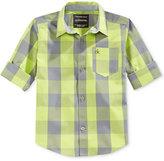 Calvin Klein Boys' Long-Sleeve Button-Up Shirt