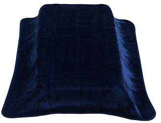 Camilla And Marc Cambrass Velvet Blanket Raschel for Cot Bed (110 x 140 cm, Be Range, Plain Navy)
