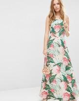 Asos Tropical Print Maxi Dress