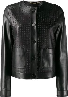 Escada perforated leather jacket