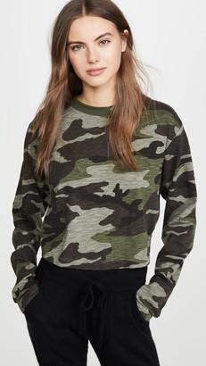 Pam & Gela Camo Slouchy Crop Shirt