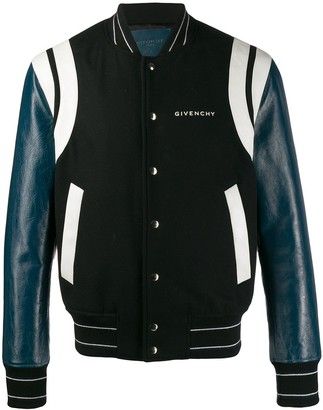 Givenchy Leather Panel Bomber Jacket