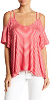 Vanity Room Striped Double Strap Swing Tee