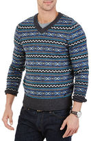 Nautica Fair Isle V-Neck Sweater