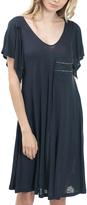 Bow & Arrow Navy Flutter-Sleeve T-Shirt Dress