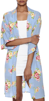 Coveted Clothing Peony Print Robe