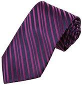 DAA7A11B Blue Brown Stripes Microfiber Neck Tie Best For Designer Neckwear By Dan Smith