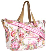 Oilily Fantasy Floral Carry All (Cream) - Bags and Luggage