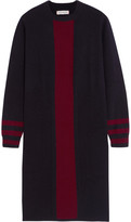 Chinti and Parker Striped Cashmere Dress - Navy