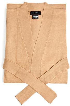A & R Cashmere A&R Cashmere Cashmere-Blend Robe - Sand - a&R Cashmere