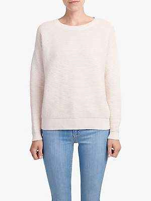 French Connection Mozart Ripple Jumper, Capri Blush