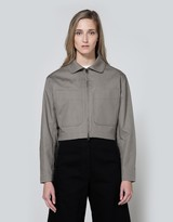 Lemaire Zipped Jacket in Stone