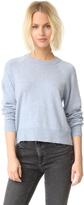 Alexander Wang Birdseye Crew Crop Sweater