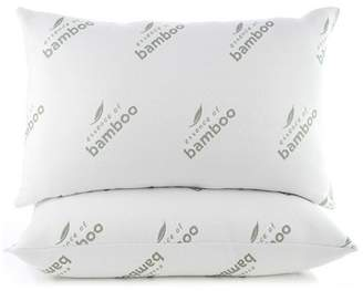 Essence of Bamboo Jumbo 2pc Knit Pillow White
