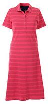 Classic Women's Plus Size Short Sleeve Mesh Polo Dress-Falling Petals