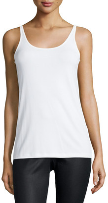 Eileen Fisher Plus Size Silk Jersey Long Slim Camisole