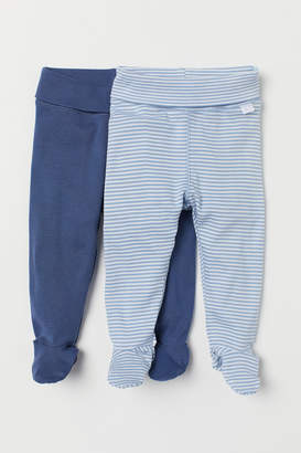 H&M 2-pack Pants with Feet - Blue