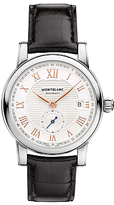 Montblanc 113879 Star Roman Small Second Carpe Diem Date Special Edition Leather Strap Watch, Black/white