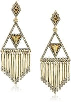 House Of Harlow Golden Hour Fringe Drop Earrings