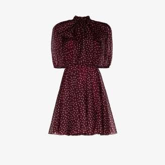 Dolce & Gabbana polka dot silk organza mini dress