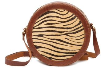 Most Wanted Design by Carlos Souza Zebra Genuine Calf Hair Crossbody Bag