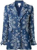 Huishan Zhang embroidered denim blazer