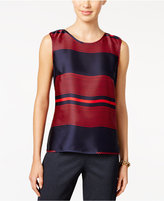 Tommy Hilfiger Striped Woven Shell