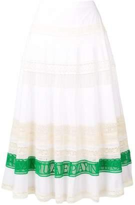 Tory Burch Colour-Block Flared Skirt