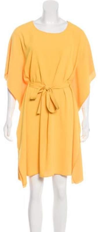 Maison Margiela Draped Knee-length Dress Yellow Draped Knee-length Dress