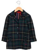 Sonia Rykiel Girls' Plaid Button-Up Coat