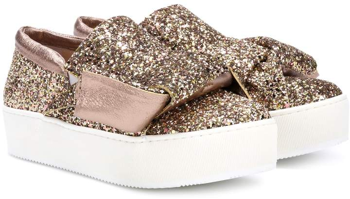 N°21 Glitter slip-on sneakers